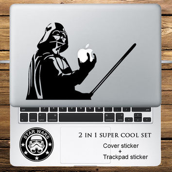 "Star Wars Darth Vader 2 in 1 Cover Sticker + Trackpad Stickers Set Laptop Decal Sticker for Macbook Pro Air Retina 11"" 13"" 15"""