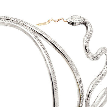 Engraved Snake Bangle
