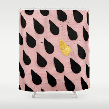 Kiss the Rain Shower Curtain by Cafelab