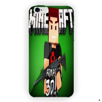 Armas 3D Minecraft Diamond Sword  For iPhone 6 / 6 Plus Case