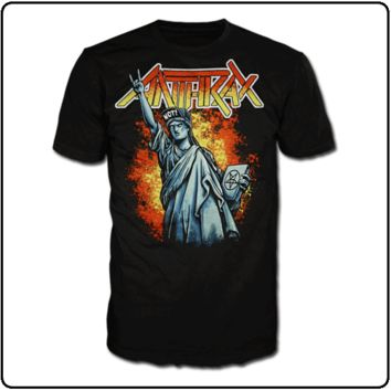 Anthrax NOT STATUE T-Shirt NEW Heavy Metal Band Authentic & Licensed