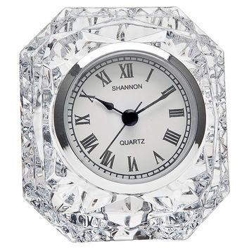Godinger Silver Art Co Dublin Crystal Table Clock I