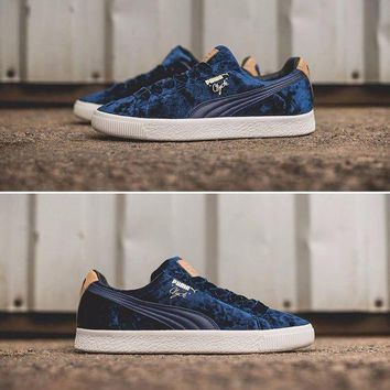 Puma Suede Clyde X Extra Butter Casual Shoes Blue Sport Shoes - 362320-02 - Beauty Ticks