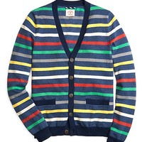 All-Over Stripe Cardigan - Brooks Brothers