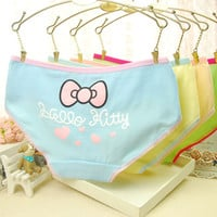 Cotton briefs Hello Kitty low waist women underwear big size printing style briefs