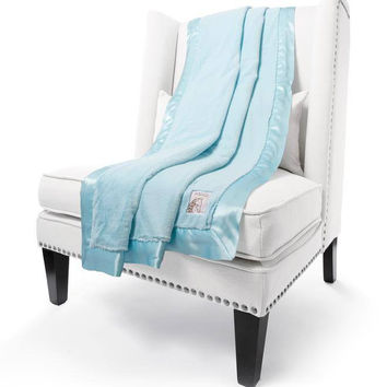 Aqua Luxe Throw by Little Giraffe