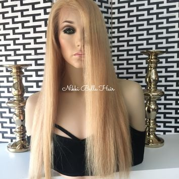 Remy Human Hair Highlight Blonde Full Lace Wig - Dana
