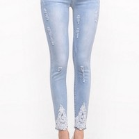 Fancy Destroyed Skinny Jeans - OASAP.com