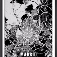 Madrid Spain Map with Coordinates