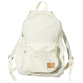 Nylon Packable Day Pack - White