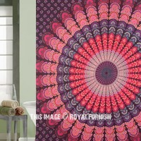 Purple Multi Good Vibes Mandala Shower Curtain on RoyalFurnish.com