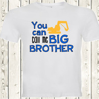 You can call me Big brother pregnancy announcement T SHIRT or Onesuit ® brand bodysuit Pregnancy Reveal shirt for big brother, second child