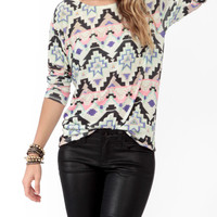 Relaxed Southwest Print Top