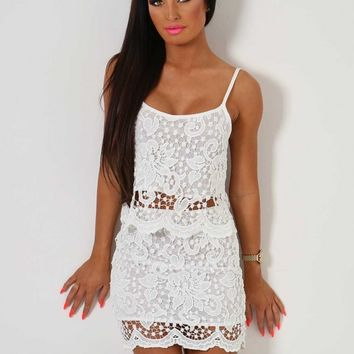 Sweet Pea White Lace Two Piece Set | Pink Boutique