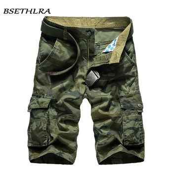 2018 New Cargo Shorts Men Summer Top Design Camouflage Military Casual Shorts Homme Cotton Fashion Brand Clothing