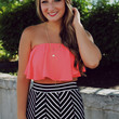 Risk Taker Crop Top - Neon Coral