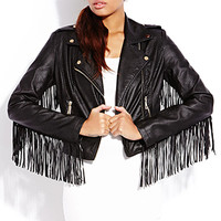 Biker Babe Faux Leather Jacket