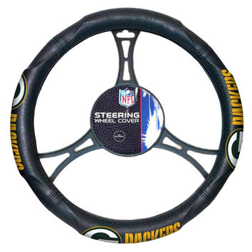Green Bay Packers NFL Steering Wheel Cover (14.5 to 15.5)