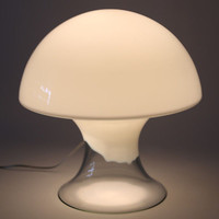 Gino Vistosti Mushroom Lamp Mid Century Modern Murano Glass