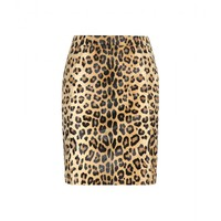 Printed calf hair skirt