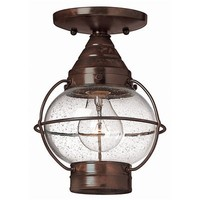 Hinkley Lighting 2203SZ Cape Cod Dual Outdoor Close to Ceiling Light, Sienna Bronze - Lighting Universe