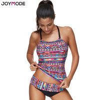 JOYMODE 2017 Newest Design Swimwear Women Plus Size Swimsuit Sexy Halter Neck Tankini Set Vintage Bathing Suit Swim