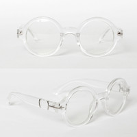 TRANSPARENT ROUND GLASSES