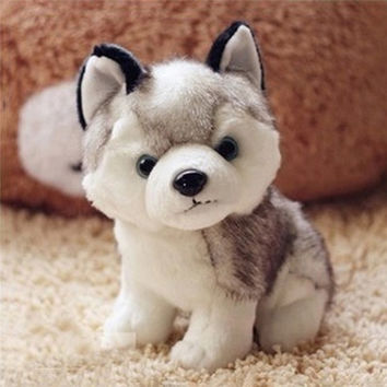 Lovely Simulation Husky Dog Toy Stuffed Animals Plush Toys Cushions Gifts Cotton 2 Sizes Great Gift for Kids