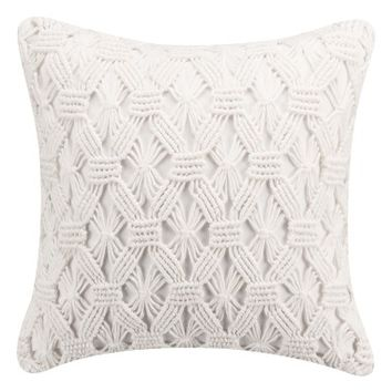 cupcakes & cashmere Mosaic Tile Hand Knotted Accent Pillow | Nordstrom