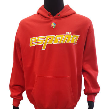 Majestic Spain Espana World Baseball Classic Pullover Hoodie