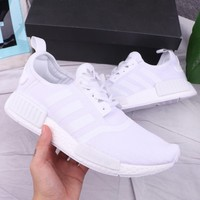 Adidas NMD New fashion sports and leisure couple shoes White