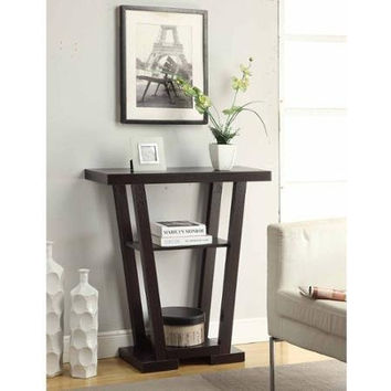 Newport V Console Table, Espresso