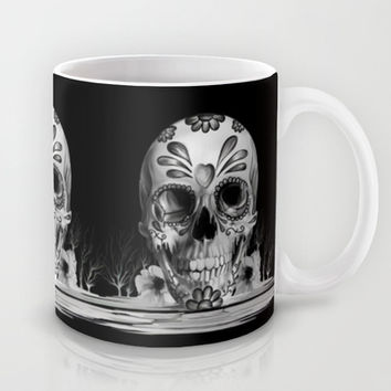 Pulled sugar, day of the dead skull Mug by Kristy Patterson Design