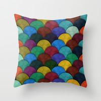 Escaramuza Throw Pillow by Anny Cecilia Walter