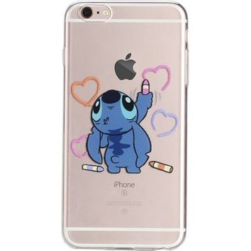 (6s/6 Plus(5.5inch)-Silicone Case) DOMIRE iPhone 6 Plus 6s Plus(5.5inch) Cases Lovely Cartoon Character Soft TPU Silicone Clear Cases for iPhone 6 6s Plus(5.5inch) (Pattern 9)