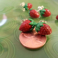 Sculpey Clay Strawberry Earrings