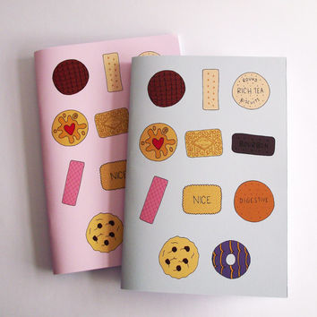 Biscuits Notebook A5 Blank Illustrated Notebook Journal Sketchbook