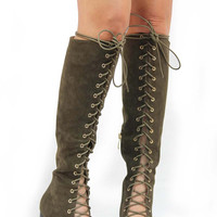 Bella Boots - Olive