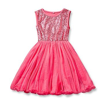 Summer Dress For Girl Little Princess Tulle Costume Kids Clothes Children Clothing Girls 7 Year Birthday Outfit Casual Wear