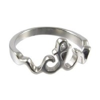 LDS Womens Stainless Steel Cursive CTR Choose the Right Ring for Girls - LDS Rings, Womens CTR Ring, Girls CTR Ring