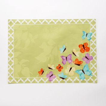 SONOMA life + style Green Butterflies Placemat