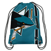 San Jose Sharks Official NHL Team Logo Drawstring Backpack
