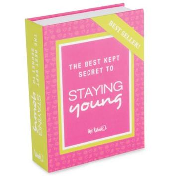 Secret to Staying Young Book Flask