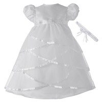 American Originals Criss-Cross Satin Dress - Baby Girl, Size: