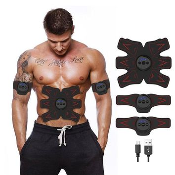 Fitness Abdominal Muscle Trainer Electronic Press Stimulator Gym Equipment For training apparatus Abdominal Belly Press Belt