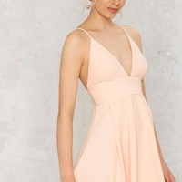 Figure of Peach Fit & Flare Dress
