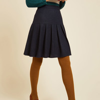 Preppy Stepping Skater Skirt | Mod Retro Vintage Skirts | ModCloth.com