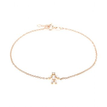 matchstick - 18kt rose gold boy bracelet with white diamonds