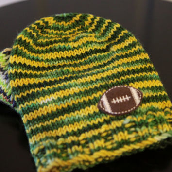 NFL Green Bay Packers Baby Hat / Green and Gold Baby Hat / 3-6 Months / Ready to Ship!