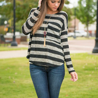 Stallion Stripes Top, Black